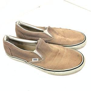 Vans Tan Slip on Sneaker Size 10 Men / 11.5 Women